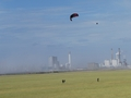 Launch of the 14 m2 kite with the coal power plant in the background